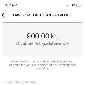 Zalando gavekort på 900 krSælges til 800,-