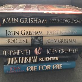 Diverse bøger af John Grisham Alle er HB med smudsomslag   25,- pr. bog