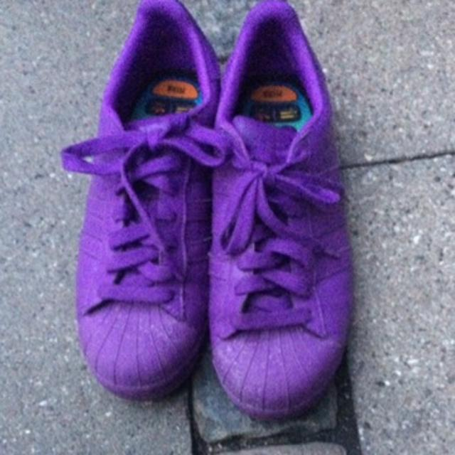 Pharrell Williams x adidas Originals Superstars: Purple