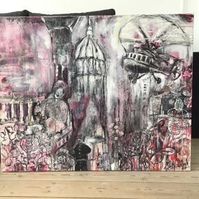 """""""Waiting""""  af M. Munch. 2017. Et maleri der på et og sammen tid skildrer det smukke og dramatiske. En dobbelthed der specielt findes i mine tidligere malerier. Se mere af min kunst på www.mettemunch-galleri.dk.  Maleriet skal afhentes i Maribo"""