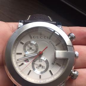Gucci chronoscope 101M chronograph quartz Unisex   Skal have nyt batteri ~ få skrammer på urskiven