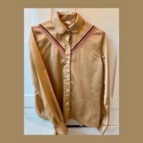 Kobber farvet silke lignende vintage skjorte 🤎
