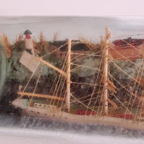 5 mastet skib i flaske sælges