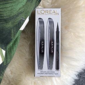 2 x false lash wings mascara + 1 super perfect slim eyeliner. Helt nye mascara og eyeliner, stadigvæk i indpakningen. Kan sendes hvis køber betaler for fragt!