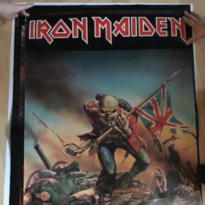 Vintage Iron Meaden The Tropper Plakat fra 80'erne