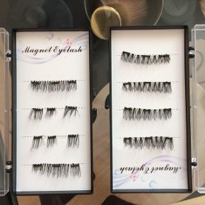 Magnetiske øjenvipper   • Genanvendelige  • Begge par 50 ,-  • Det ene par er klippet i 3 dele  ( Hvilket gør dem nemmere at påføre)