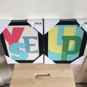 BYD :-) Sælges kun samlet. Prisen er for begge. Der følger beslag og skruer med.  28x23 cm