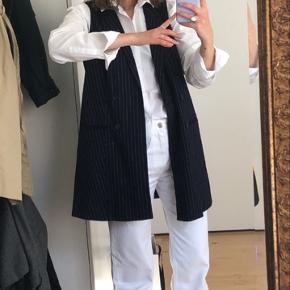 Hvide straight leg jeans fra Zara Brugt få gange