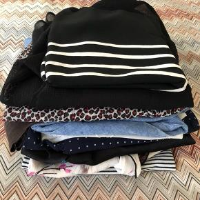 Lots of tops from Zara, mango, hm. All fits size small. One for 40, all for 250