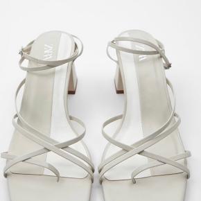 Flotte squared toe stiletter i ægte læder   Kun brugt 1 gang  Hælhøjde 7,5cm