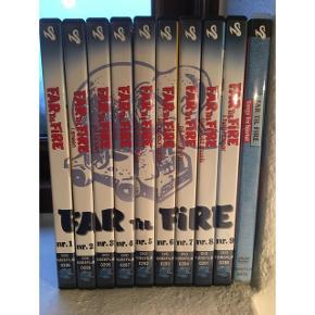 """De 9 første """"Far til fire"""" film på DVD + 1 DVD med originale sange og filmklip. Alle DVD er ubrugte. Sælges samlet."""