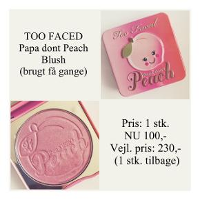 Brand: Too Faced Varetype: Blush Farve: Papa dont peach   Brugt få gange - pæn stand ☀️