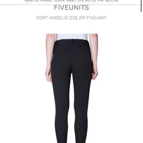 Fiveunits bukser i sorte Angelie 238 zip  Aldrig brugt Str 32 - passer ca str 42