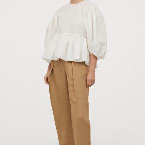 H&M Conscious Exclusive bomulds skjorte med ballon ærmer