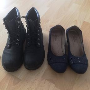 Sorte vinterstøvler i str 37 og et par ballarina i str 29, sælges da de ikke bliver brugt☺