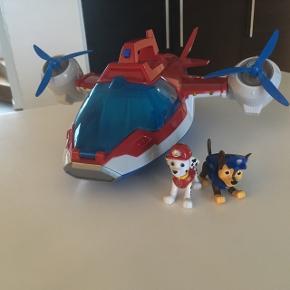 Paw patrol flyvemaskine med to figurer...