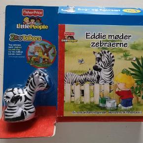 Varetype: fisher price Størrelse: - Farve: -  Fisher Price little people zootalkers Eddie møder zebraerne *NY* Bog med legetøj Helt nyt i ubrudt emballage Nypris: 150,- kr. Pris: 90 kr. eller kom med et bud  Porto:  60 kr. som brev med PostNord  36 kr. som pakke med Coolrunner  39 kr. som pakke med G-porto (GLS) 45 kr. som pakke med G-porto (PostNord)