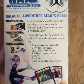 Starter sæt til Star Wars Pocketmodel Trading Card Game til 2 spillere. Obi-Wan's Attack Battalion.   Indeholder alt, hvad man har brug for at komme igang med at spille.  1 exclusiv model, mere end 12 andre modeller, 30 kort, 2 mikroterninger og 1 spillemåtte samt regler.   Se vores andre annoncer, hvor vi har flere udvidelser til Star Wars Pocketmodel Trading Card spil.