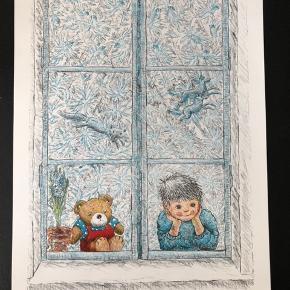 """Litografisk tryk af Marianne Koch  Udgivet i """"Børnenes kunstmappe"""" 1987  Størrelse: 24x34,5 cm.   Sender gerne..."""