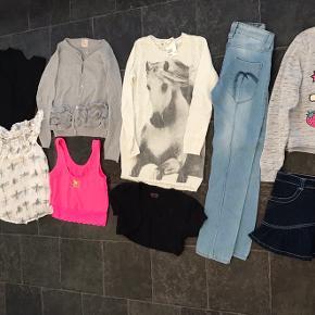 Pige tøj pakke str. 9/10 år  Forskellige mærker.  11 dele for 100kr  Fra røgfrit hjem  Skal der sendes, betaler køber Porto  Afh. 6710 i fourfeldt