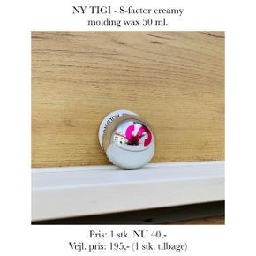 NY TIGI - S-factor creamy molding wax 50 ml.   Pris: 1 stk. NU 40,- Vejl. pris: 195,- (1 stk. tilbage)