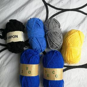 Forskelligt garn - Akryl, uld osv. Sælges billigt.