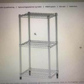 Ikea reol Omar  Original prisen er 229 Mål: 46x36x94 Varen skal hentes i Snekkersten (Helsingør).  Fejler intet og er samlet.