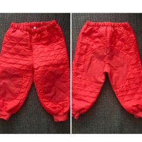 80 Termobukser regnstof knæ og numse rød bukser Termotøj Elka