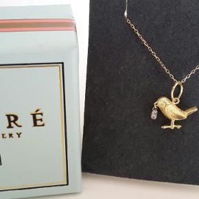 VEDHÆNG I 18 KARAT GULD SAT MED DIAMANT - BIRDY NUM NUM  Nypris 8900kr for vedhæng  18K guld med diamant.   Kæde er ikke til salg