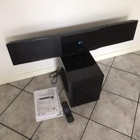 Panasonic soundbar med sælges. SC- BFT800. Kvittering og brugsanvisning og fjernbetjening medfølger. 1000 kr. Andrup