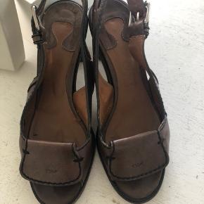 En dejlig læder sko fra Chloe i størrelse 38,5 Brun, hæl 8 cm