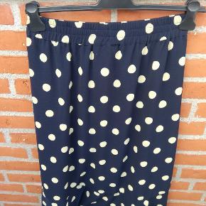 Gul prikket blå InWear nederdel str. 38