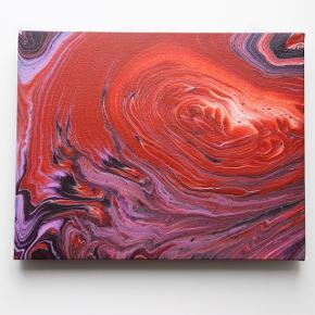 Originalt maleri. Lakeret og med krog klar til ophængning.  Størrelse: 24x30cm.