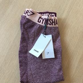 Gymshark Flex leggings - Dark Ruby Marl/ Blush nude   Størrelse small - ALDRIG BRUGT