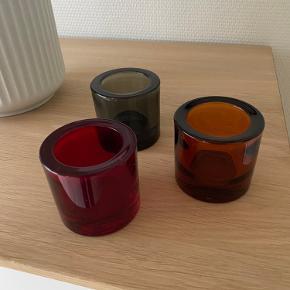 Kivi stager - 3 stk fejlfrie - orange, rød og grå    Giv et bud - sender gerne