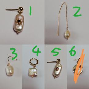 Håndlavet øreringe med ferskvandsperler,perlerne er helt naturlige og derfor kan de variere i form og størrel Godt til mix and match 60kr / STK  Smykkeæske medfølger   + 31.95DKK med DAO via Trendsales