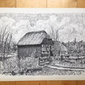 Litografi af Gustav Holgersen 1980  Størrelse: 44x31 cm.   Signeret i trykket.   Sender gerne...  Tjek også mine andre annoncer med original kunst af anerkendte kunstnere. Jeg tilbyder også professionel indramning med passe partout til meget fornuftige priser.