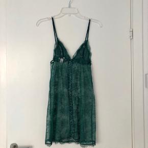 Victoria's Secret green lace night dress in size S. Lattice back detail. Never worn.