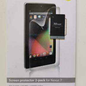 Screen protektor til Nexus 7. Trust er mærket. Købt i Fona.  1 stk i pakken.