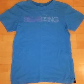 Billabong blå tshirt str 14 år 164 cm.