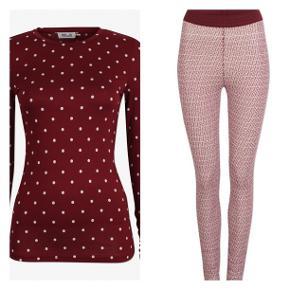 Blusen og leggings - passer sammen i farve. Sælges samlet