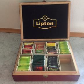 Lipton te kasse af træ. Te følger ikke med