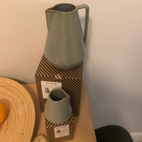 Ferm living recently bought pitcher and a matching creamer in Bauhaus style. Rustic and beautiful, great for gifts because still in packaging and never used! Selling out of stuff due to moving countries.