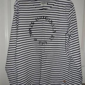 Jack & Jones bluse mørkeblå hvid str. XL  Byd :-)