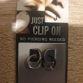 To clip on piercinger. Måler 9 mm  Giv et bud