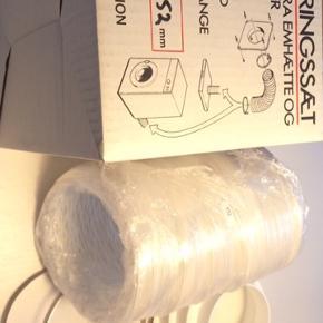 Eico ventilationsæt helt ny, stadig i original æske. Slange. Spændebånd mm.