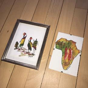 To billeder inkl. rammer 45,- for dem begge - sælges kun samlet