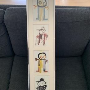 Poul Pava malerier i aflang ramme. Fin stand Med ramme: 80cm langt pg 20cm bredt  Byd gerne