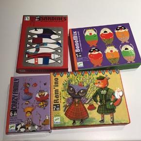 4 spil fra djeco, som ny, et af dem er stadigvæk folieret.  Køber betaler porto 42 kr.