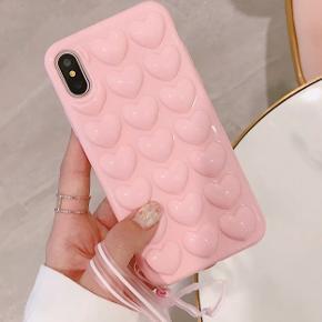 Helt nyt cover til iPhone 6 / 6s  Hjertecover, lyserød